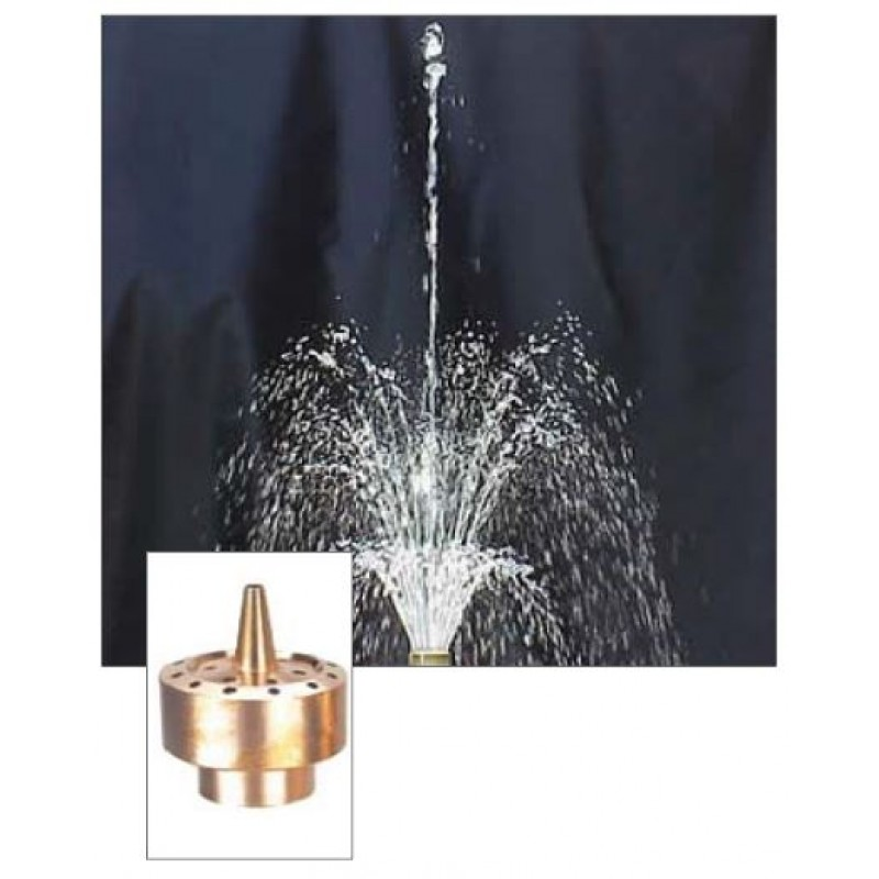 Blossom 3 Tier Brass Fountain Nozzle