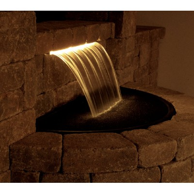 Classic colorfalls lighted waterfall weirs kits for Waterfall supplies