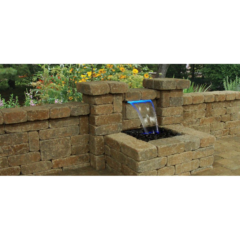 Colorfalls lighted waterfall kits for Pond waterfall kit