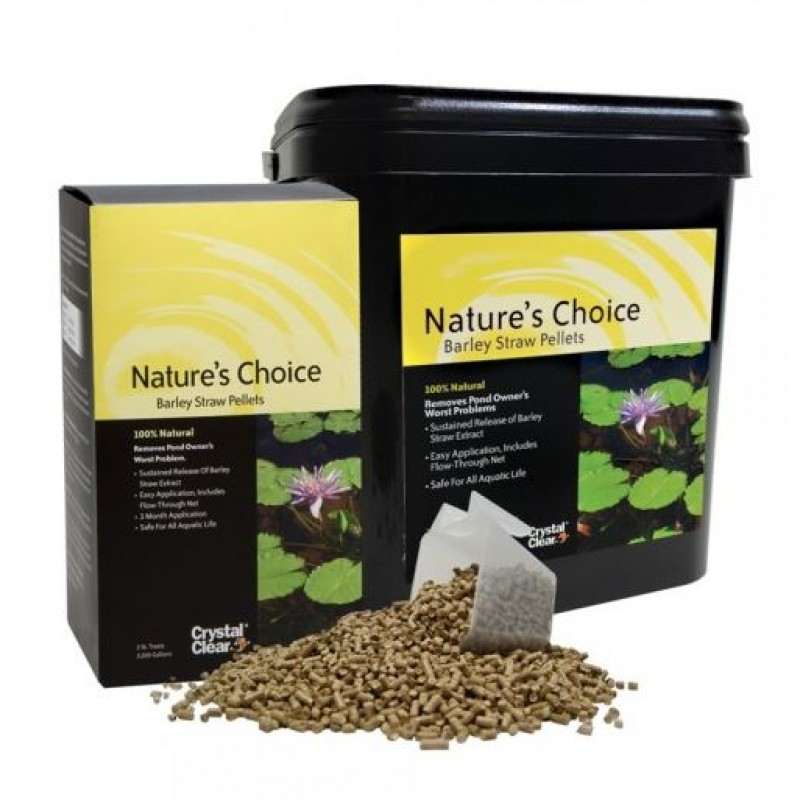 Barley straw pellets nature s choice™ by crystal clear
