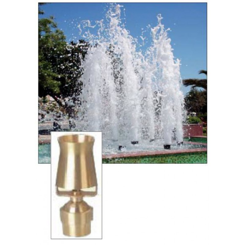 Cascade Ice Tower Geyser Brass Fountain Nozzle