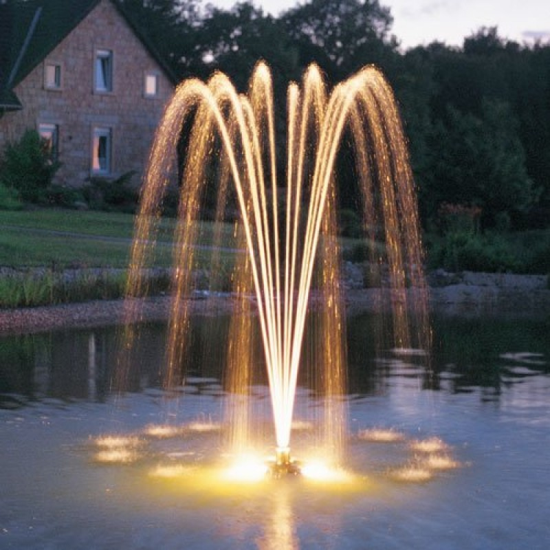 Pond jet floating fountain by oase for Pond fountains