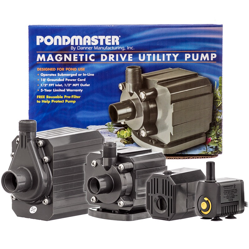 Pondmaster mag drive pond pumps from danner for Pond equipment supplies
