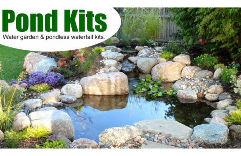 Garden pond kits 17 best images about pond and water for Garden pond materials