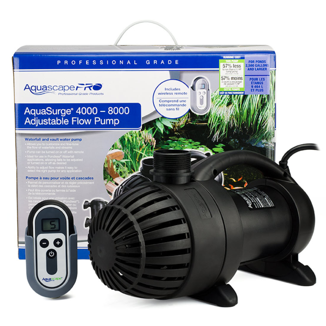 AquaSurge™ PRO Variable Speed Pond Pump With Remote