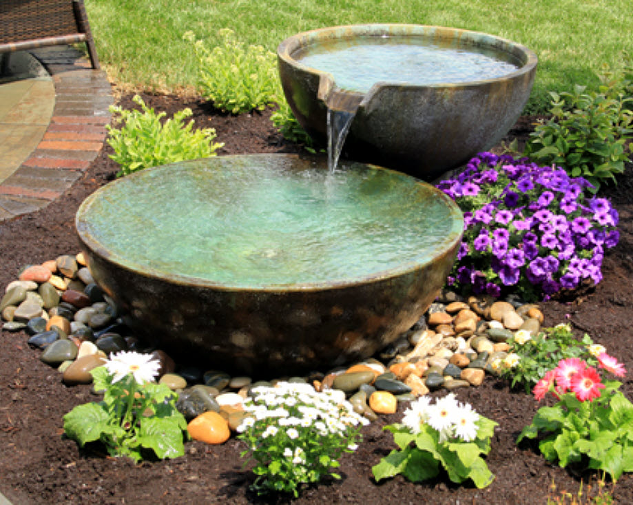 Complete Fountain Kit Spillway Bowl Amp Basin By Aquascape 174