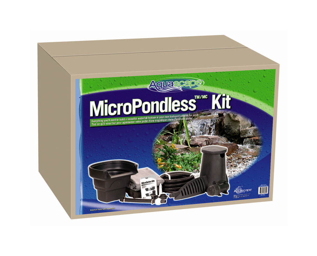 Micropondless waterfall kit from aquascape for Pond kits supplies