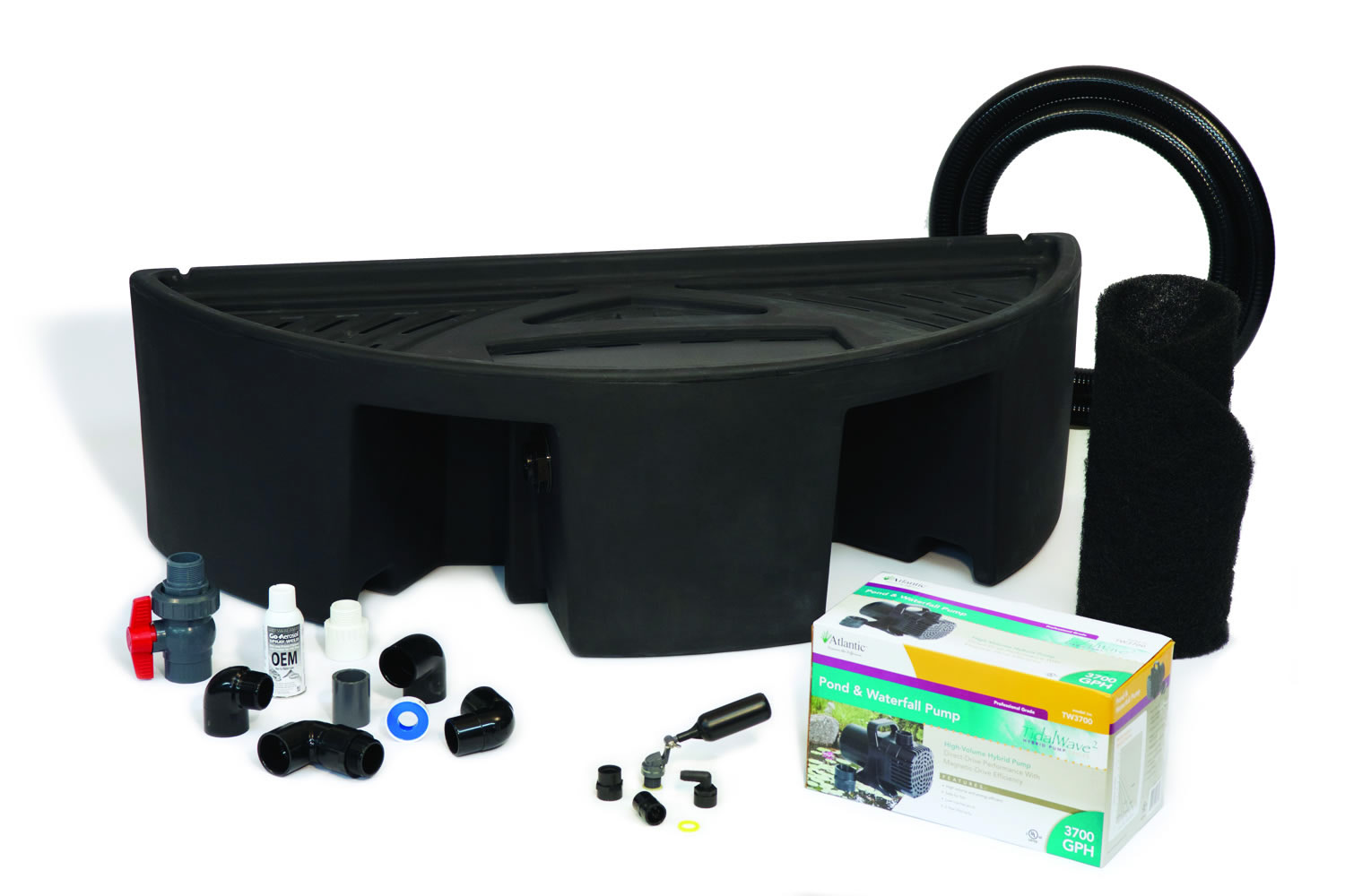 Basin kits for colorfalls weirs and formal pondfree for Pond kits supplies