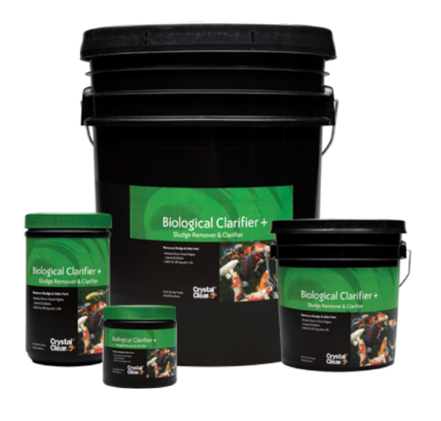 Biological clarifier pond bacteria by crystal clear for Pond filter bacteria