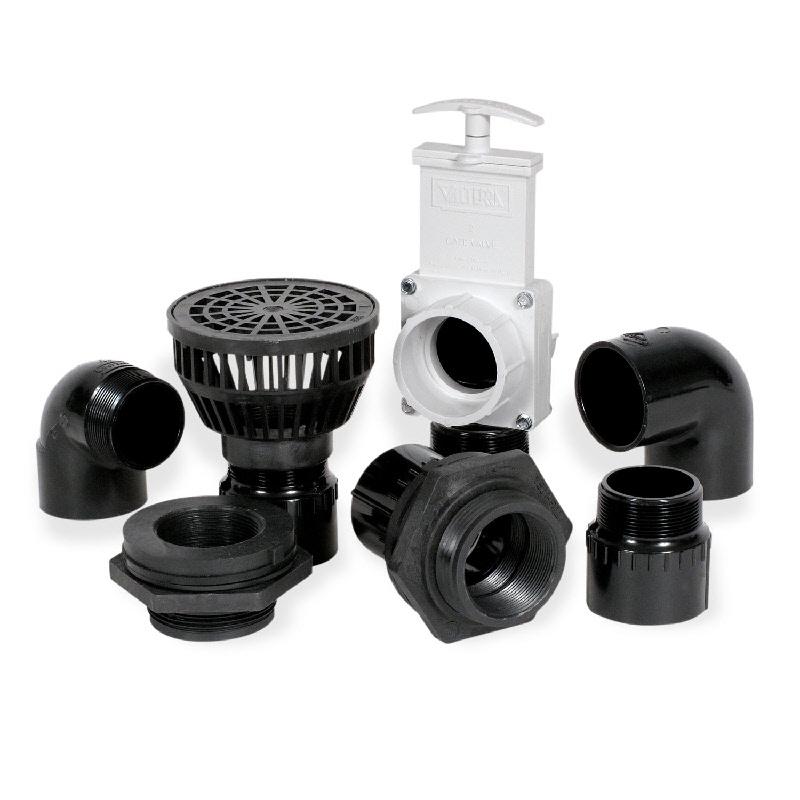 Bottom drain kit by atlantic for Pond drain pump