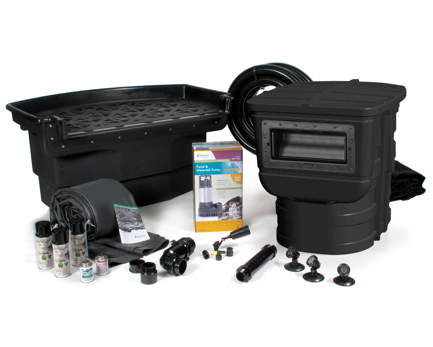 Professional pond kits from atlantic for Pond kits supplies