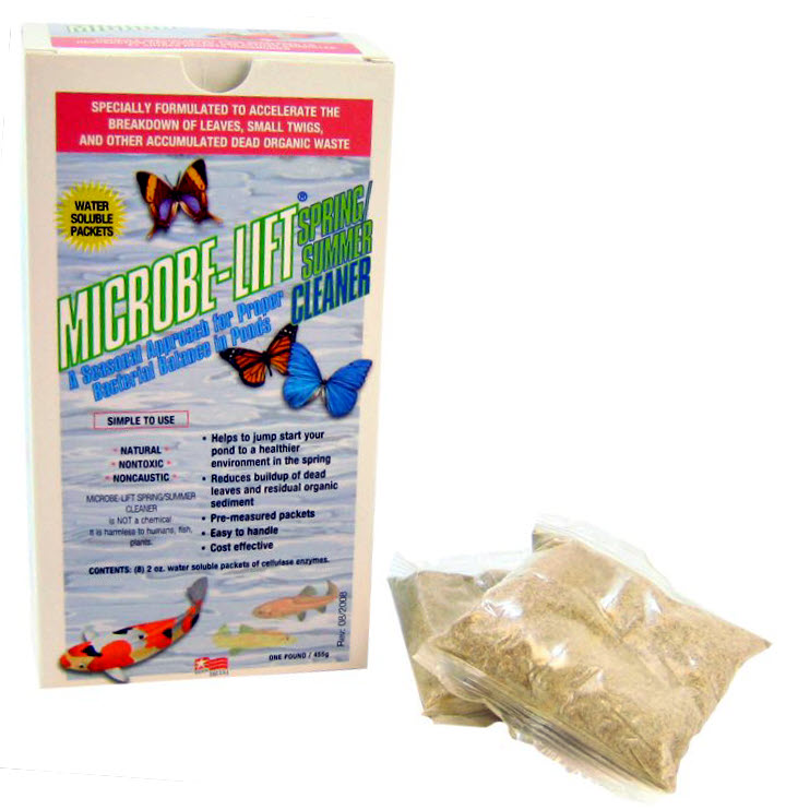 Spring summer pond cleaning bacteria from microbe lift for Professional pond cleaners