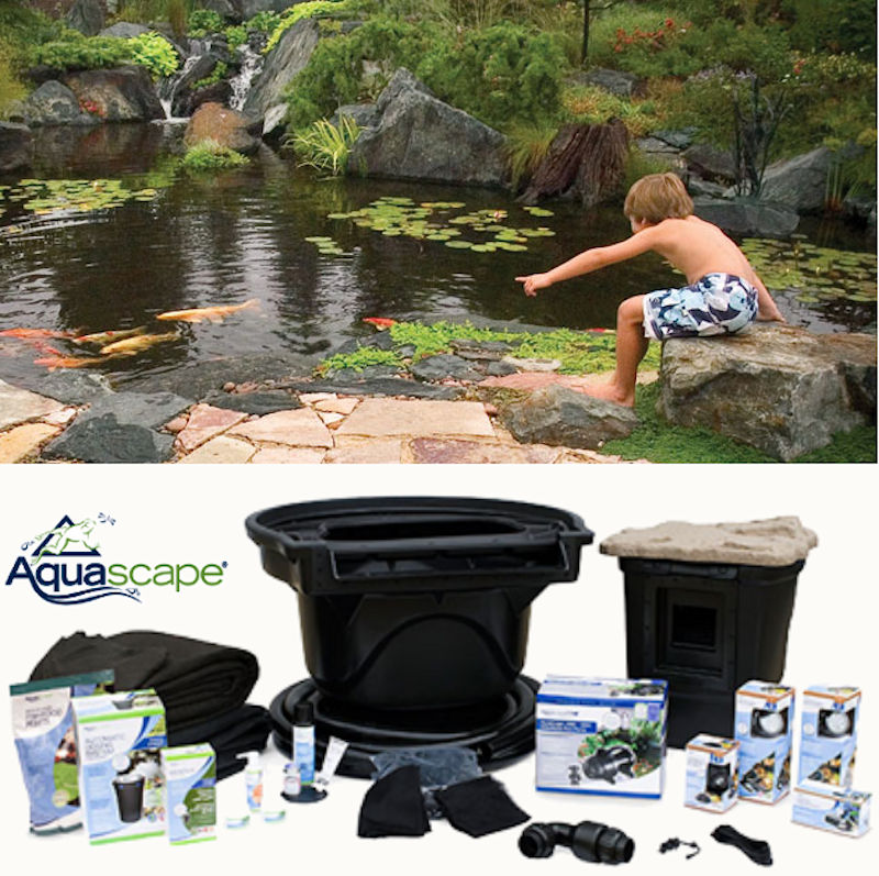 Pondless pond free waterfall kits from aquascape for Pond kits supplies